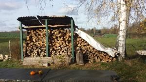 Füllstand Holzstapel